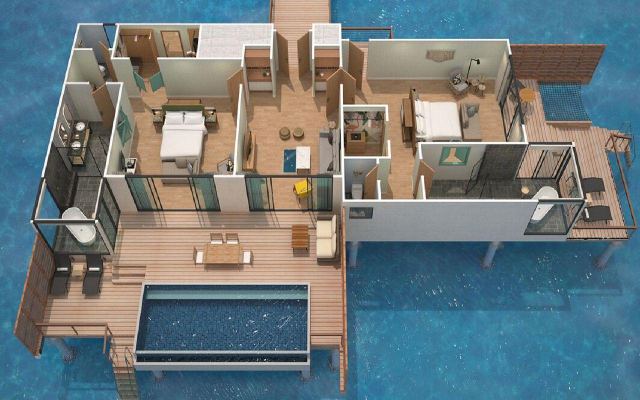 2 Bedroom Overwater Pool